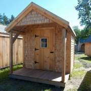 8x12 Garden Shed with cedar shingle siding