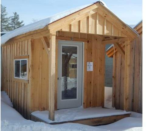 8x14 Nook with four season insulation, insulated door and insulated slider window
