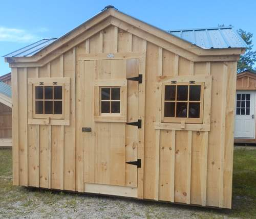 8x12 Cross Gable - Custom Shed Exterior
