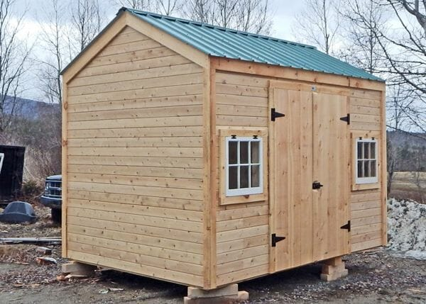 8x12 New Yorker with siding and window ugrades