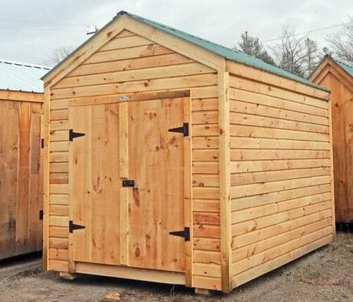 8x12 New Yorker garden shed with horizontal pine siding