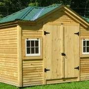 8x12 Tool Shed with clapboard siding upgrade