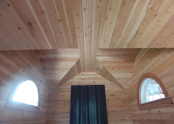 Custom Four Season Cross Gable Interior