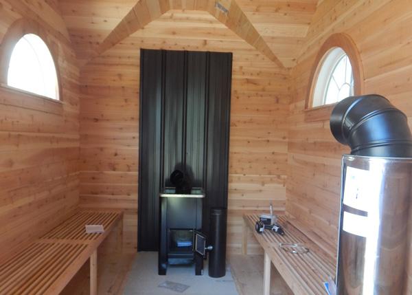 8x12 Cross Gable - Custom Sauna Build