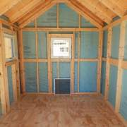 8x12 Three Season Gable Interior - Custom