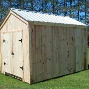 Our 8x12 New Yorker is a post and beam utility shed