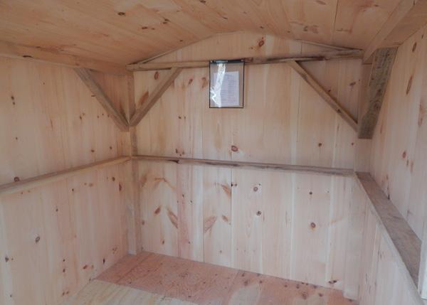 8x12 Four Season Vermonter Interior