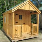 8x12 Garden Shed with proch railing