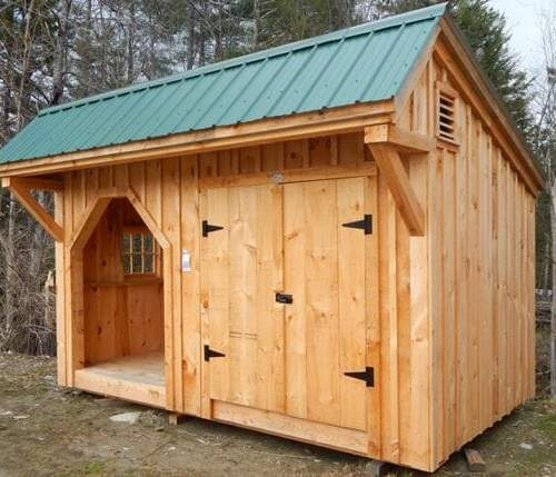 8x14 Weston Potting Shed with Evergreen corrugated metal roof