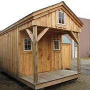 8x16 Bunkhouse includes a porch and loft