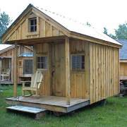 8x16 Bunkhouse with porch and loft