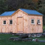 8x18 Heritage post and beam storage shed with extra windows
