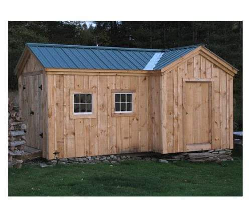 8x18 Heritage is a post and beam structure that is often used as a two room shed, poolhouse or barn