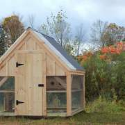 8x8 Chicken Coop with a single door and nesting boxes.
