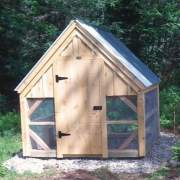 8x8 Chicken Coop - standard build with two white roofing panels purchased separately