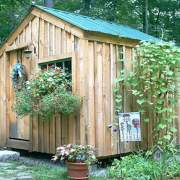 8x12 Gable storage shed with alternative window and door layout