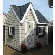 8x12 Dollhouse with siding, roofing, window and door upgrades