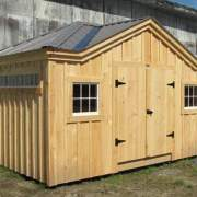 10x14 Tool Shed with 8x1 fixed transom window and Patrician Bronze roof