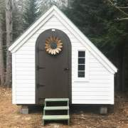 8x10 Hardware Shed with siding and window upgrade