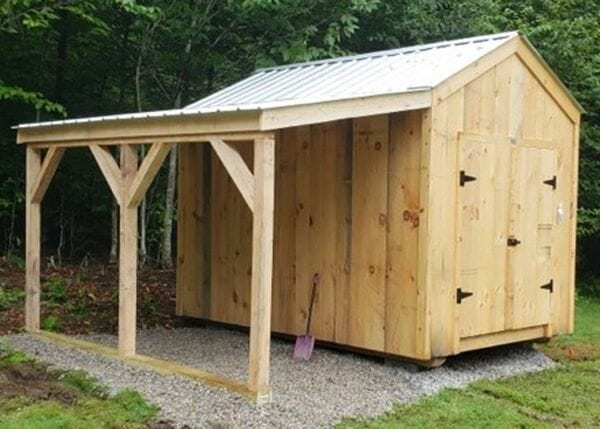 Adding a 6x12 Overhang to an 8x12 New Yorker shed is a great way to increase storage space while staying under budget