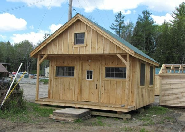 16x20 Vermont Cottage Option C with 4x16 covered porch