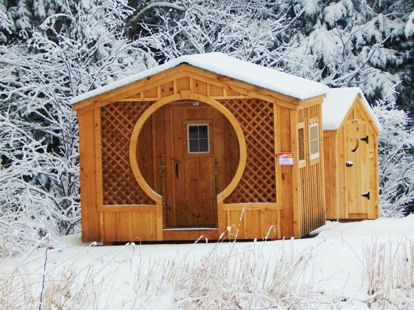 12x12 Love Nest in a snowy landscape