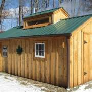 12x20 Sugar Shack with a single side entry door and modified window layout