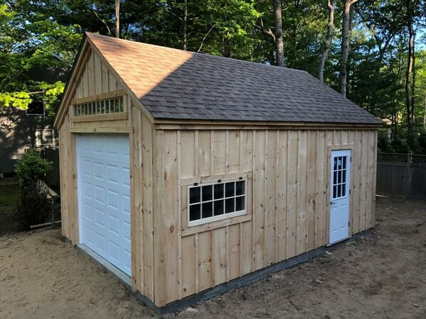 14x20 One Bay Garage with roof upgrade