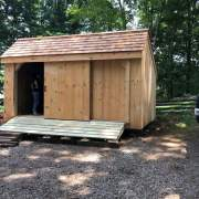 Three Sled Shed with a Red Cedar Shingle Roof