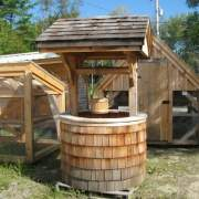 4x4 Wishing Well with Cedar Siding and Roofing
