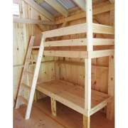 Bunkbeds that are included with the Bunkhouse