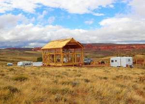 A 20x30 Vermont Cabin being constructed in the Western United States.