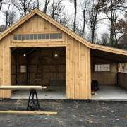 14x20 One Bay Garage with custom 8x20 Overhang