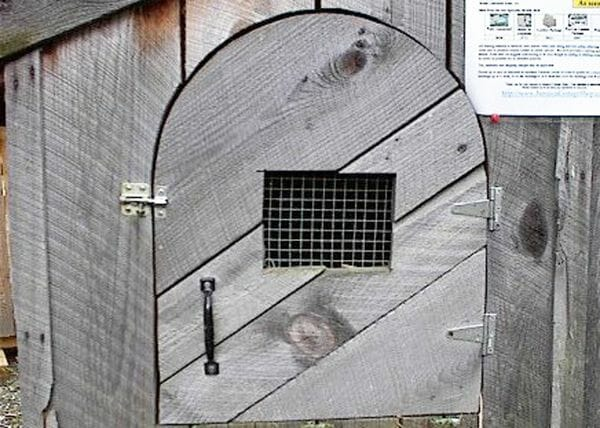 Custom built arched door