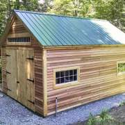 14x20 One Bay Garage with siding, door and overhang upgrades