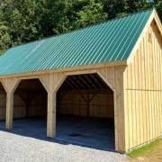24x36 Equipment Shed - Exterior