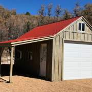 14x20 One Bay Garage with 8x20 Overhang and roof and window upgrades