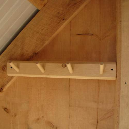 This Ski Dowel Rack is made from high quality Pine and is left unfinished.