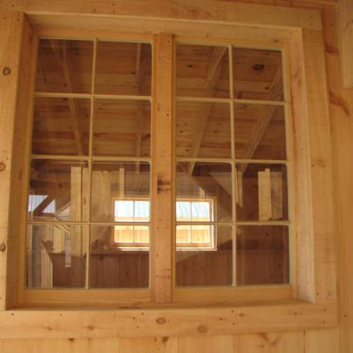 A 4x4 Window opening can be created by installing two of our 2x4 barn sash windows side by side.