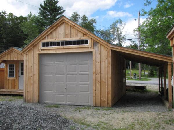 8x8 Overhead Garage Door installed on 14x20 One Bay Garage.