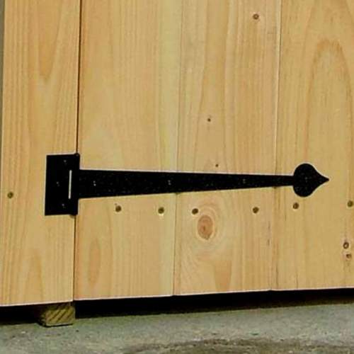 Our ornamental hinge is used on our recycling bin / shed.