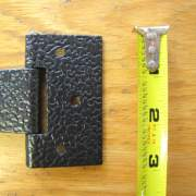 "The base of the hinge is approximately 3"" wide."