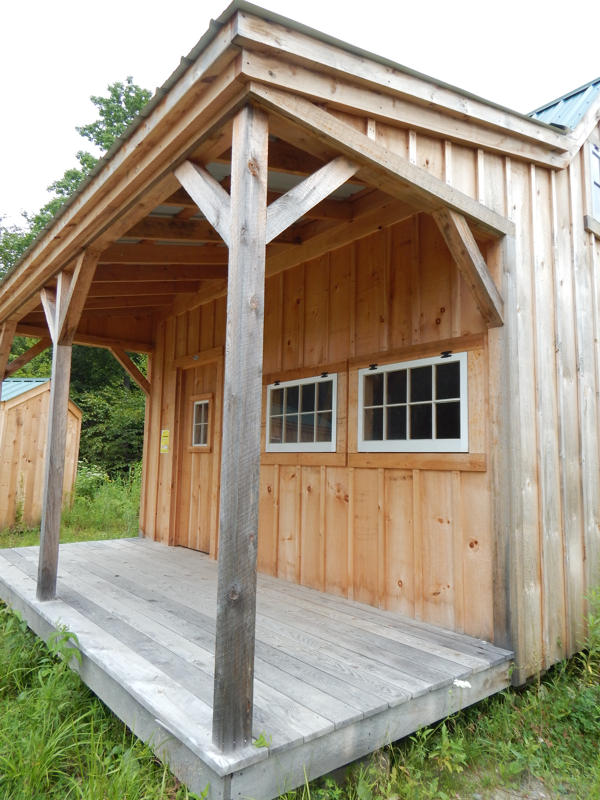 Porch kit for addition of covered porch using 4x4 Post & Beam construction.