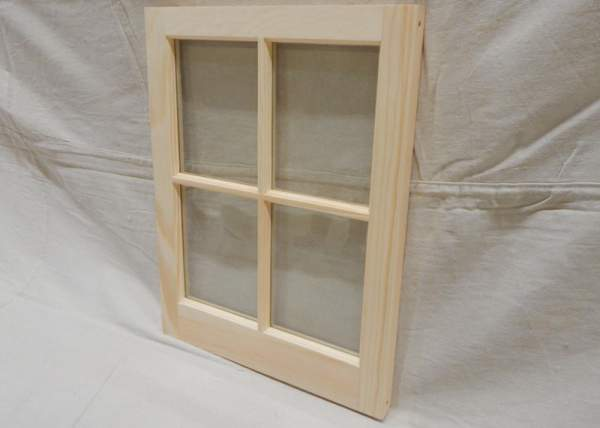 16x21 Barn Sash Window with four true-divided lights is usually installed in sheds, barns, garages and playhouses