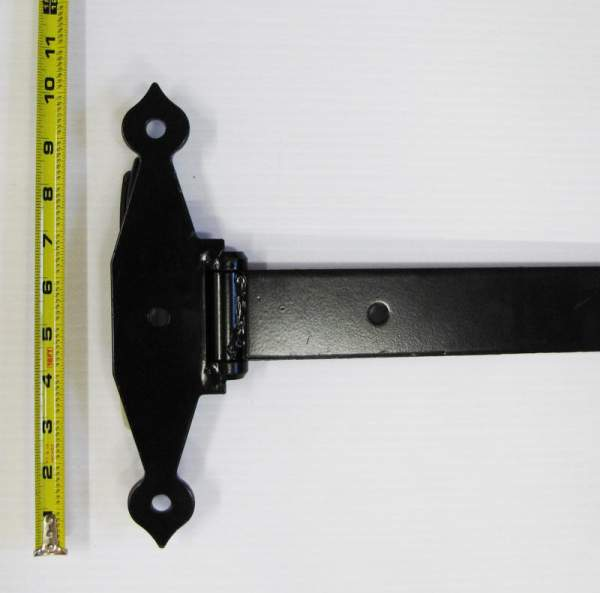 The base of these heavy duty hinges includes two pre-drilled holes for bolt installation.