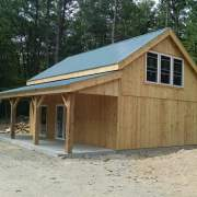 Overhang with no floor and 8x8 Post and Beam construction.