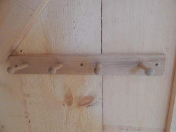 Our wooden coat racks are screwed into a wall for simple installation.