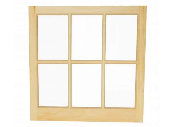 This 2x2 window can be ordered fixed or hinged.