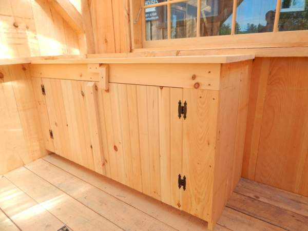 The 2x3 Cabinet comes ready to assemble in unfinished pine, ready to be stained or painted to match your decor.