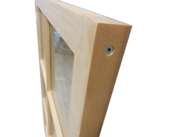 The 2x4 Barn Sash Window is constructed of high-quality all-natural pine and real glass.
